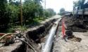 К завершению идут работы по прокладке трубопроводов от гумистинской насосной станции